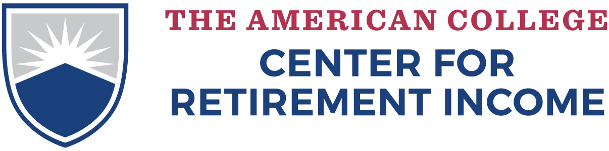 The American College New York Life Center for Retirement Income logo